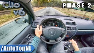 Renault CLIO V6 Phase II POV Test Drive by AutoTopNL