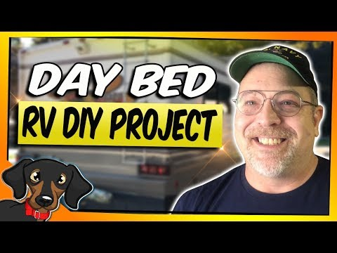 How we added a DIY Daybed for our RV   RV Renovation