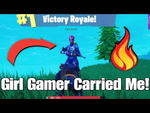 I Got Carried By A Girl On Fortnite! Respect Girl Gamers! She's A Yung Goddess!