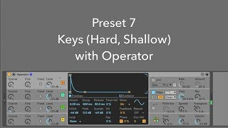 Preset 07:  Keys (Hard, Shallow) with Operator