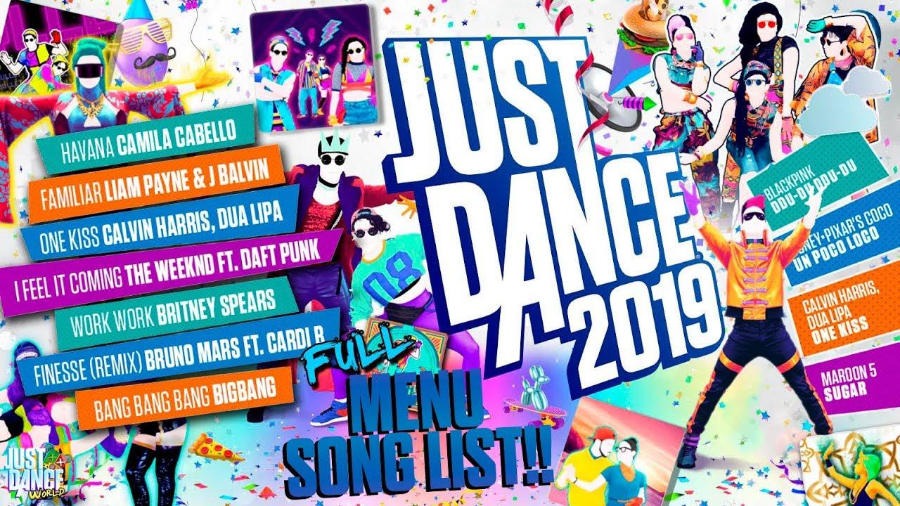 Just Dance 2019 Menu Song List! | Full Song List