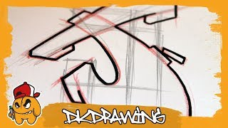 Graffiti Tutorial for beginners - How to draw & flow your graffiti letters - Letter J