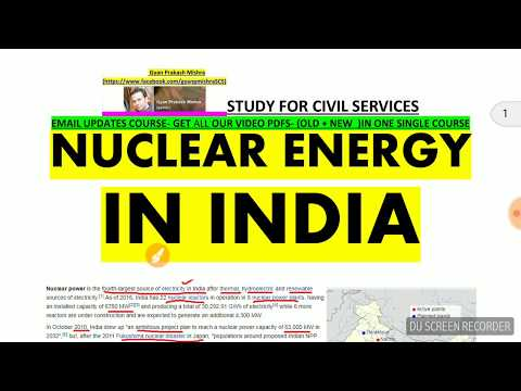 NUCLEAR ENERGY IN INDIA | NABHIKIYA URJA  | nuclear energy in hindi