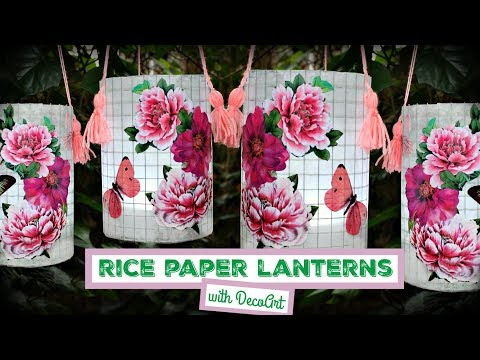 How To: Faux Rice Paper Lanterns