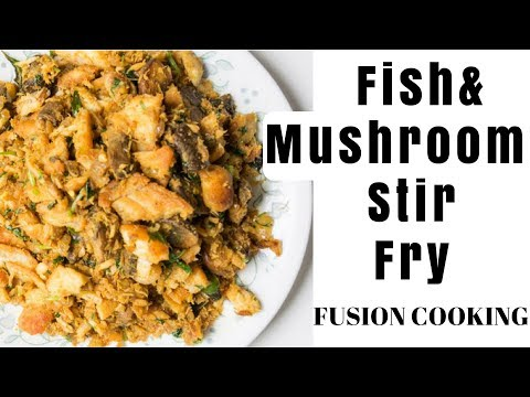 Fish Mushroom Recipe | Fish Fry W/ Mushroom | Fish Mushrooms Stir Fry