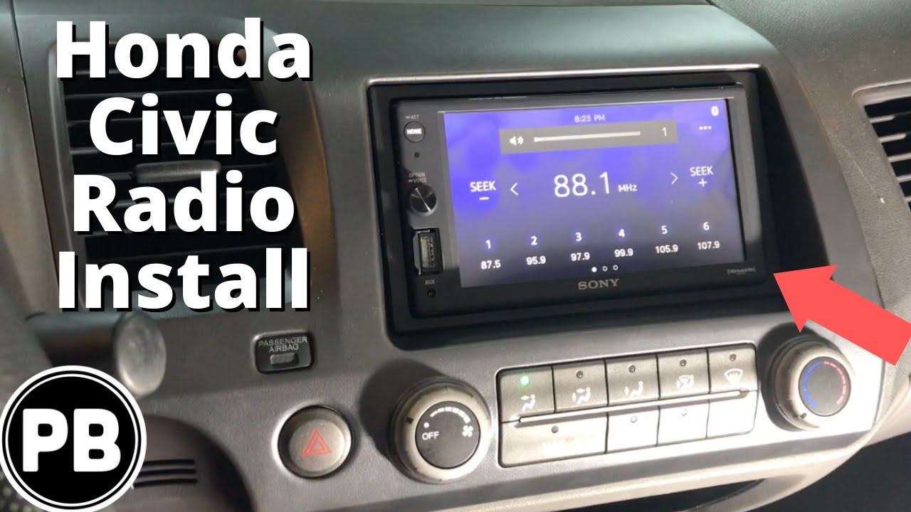 2006 2011 Honda Civic Touch Screen Stereo Install Youtube
