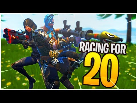RACING for TWENTY! - PS4 Pro Fortnite Duos w/ Ali!