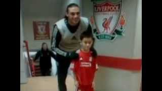 Andy Carroll photobombs poor kids only photo inside Anfield
