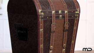 Leather Trunk - Industrial Furniture - Milan Direct
