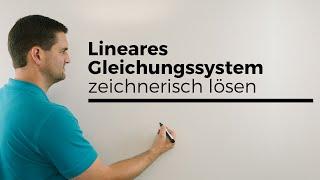 Lineares Gleichungssystem (LGS) zeichnerisch lösen, Mathe by Daniel Jung