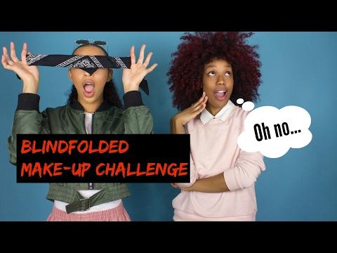 BLINDFOLDED Make-up Challenge ft. Bianca Alexa