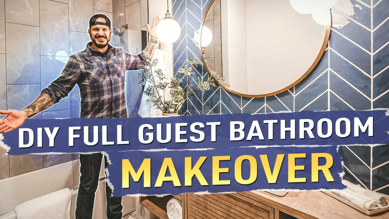 DIY Full Guest Bathroom Makeover