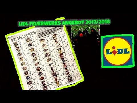 LIDL FEUERWERKS ANGEBOT 2017/2018 (BESTELLSCHEIN)