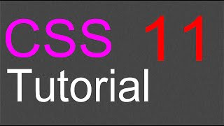 CSS Layout Tutorial - 11 - Navigation bar and buttons
