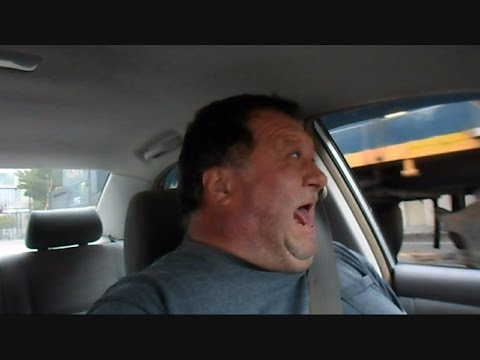 CSX Street Runner Train Scares The Hell Out Of Man In Car