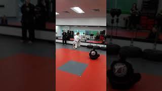 Black belt presentation for Caleb