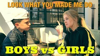 Look What You Made Me Do - BOYS vs GIRLS | Christian Lalama