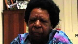 Mama Elizabeth singing in Goroka
