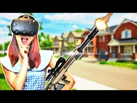 GUN SIMULATOR IN VIRTUAL REALITY! WAIT, WHAT?! | The American Dream VR Gameplay - Part 1 (HTC Vive)
