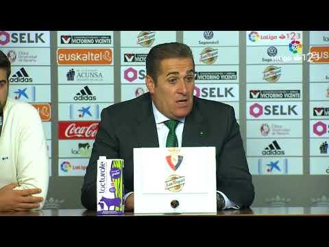Rueda de prensa de José Ramón Sandoval tras el Osasuna vs Córdoba CF (1-1)