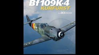DCS Messerschmitt Bf-109 K4 Kurfurst. Запуск, руление, взлет и почти посадка.