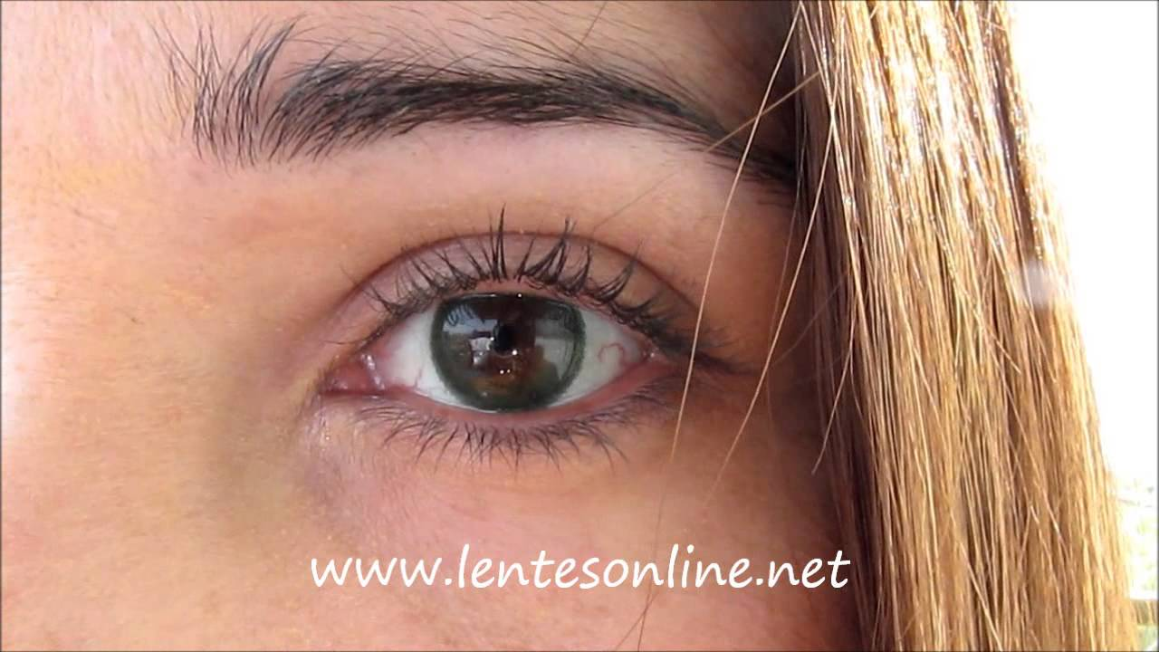 Freshlook Dimensions Sea Green >> Freshlook Dimensions Sea Green On Brown Eyes Youtube