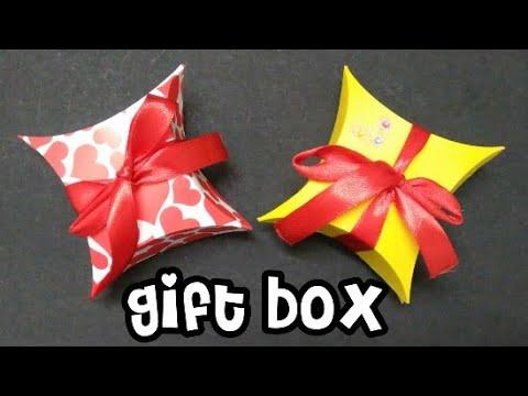 Gift box/how to make gift box easily/ DIY/ (mrin art)