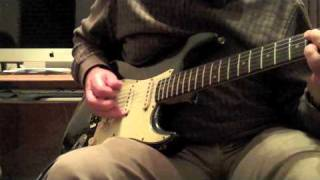 Jamming to Johnny Winter on a 1964 Stratocaster