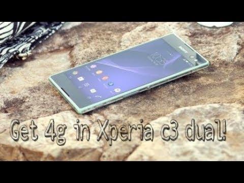 Enable 4g in Sony Xperia c3 Dual (sj method)