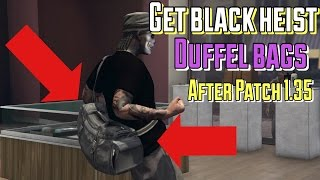 How To Get Black Heist Duffel Bag On GTA | Outfit Glitches | Patch 1.35  | GTA V online(, 2016-07-22T21:06:22.000Z)