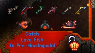 How to Fish iฑ Lava in Pre-Hardmode! Terraria Journeys End Update