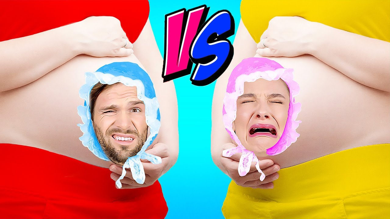 Good Pregnant VS Bad Pregnant! Funny Pregnancy Situations, Baby Shower Hacks By A PLUS SCHOOL