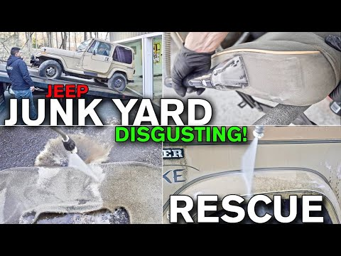 Disgusting Car Detailing Makeover: Junk Yard Find Jurassic Park Transformation