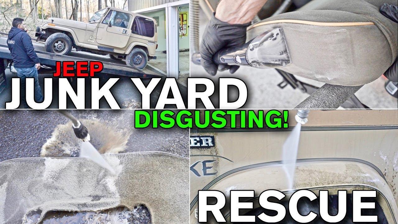 Cambio de imagen repugnante del coche: depósito de chatarra Encuentra la transformación de Jurassic Park + vídeo