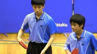 Table Tennis 武田/中島 × 大串/真子 全日本カデット2012-1116