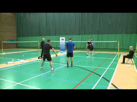 North East Badminton Action from the Tees Valley Yorkshire Senior Gold mens doubles final