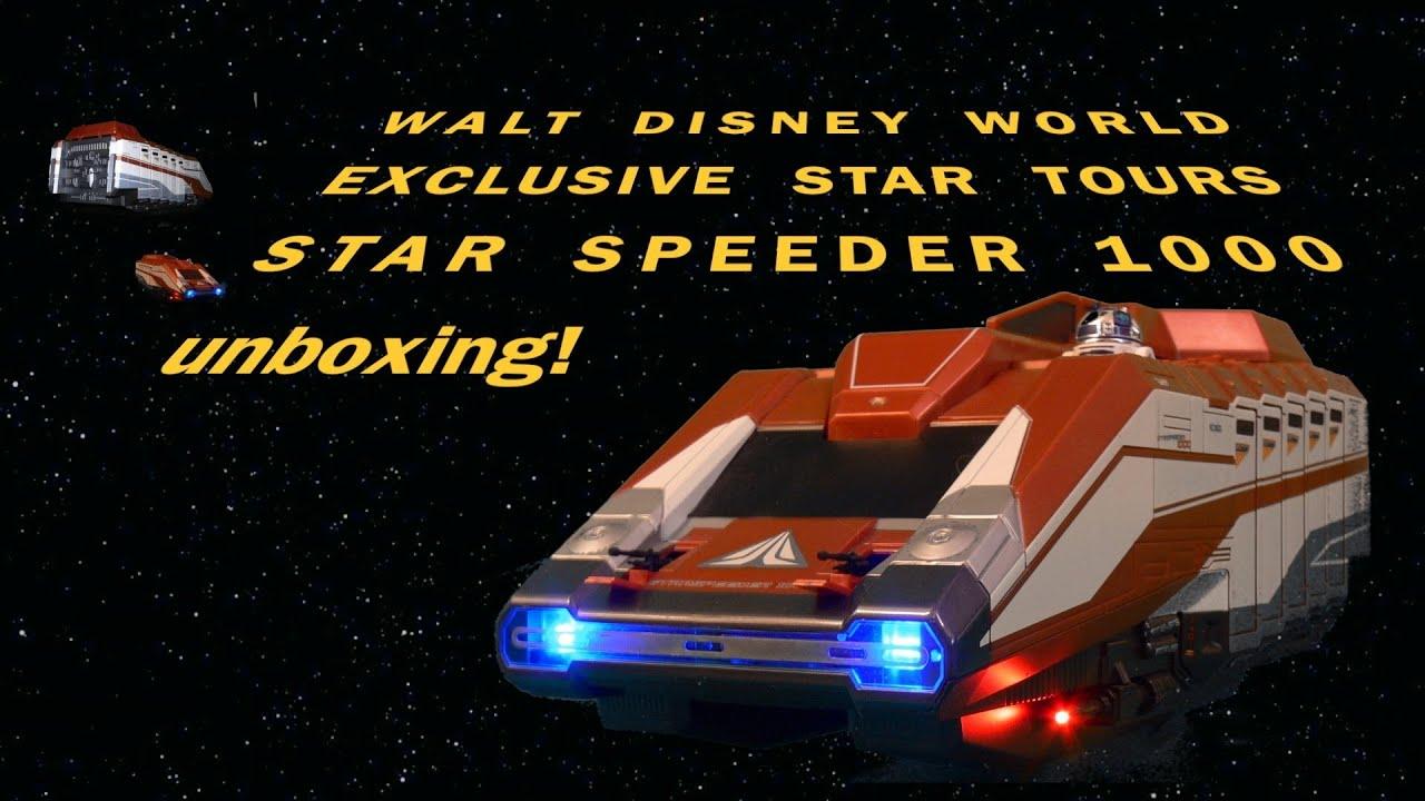 Star Wars Tours Starspeeder 1000 Vehicle Playset Walt Disney World Unboxing