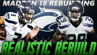 Madden 18 Connected Franchise | Seattle Seahawks Realistic Rebuild | 7th Round Gem Draft Pick! 2017 Video