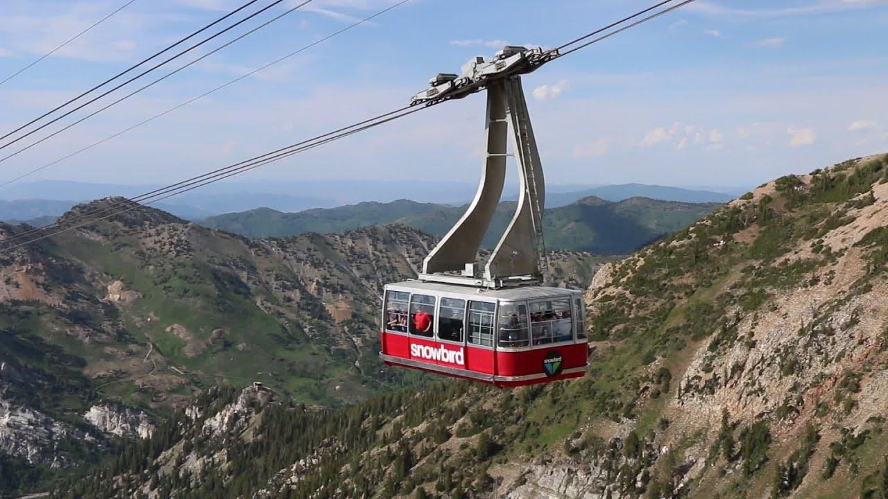 Snowbird Utah Aerial Tram And View From Hidden Peak