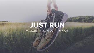 Web Design Speed Art - Nike Just Run