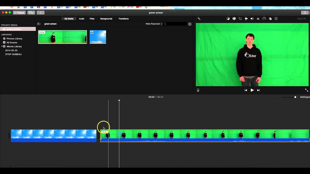 Imovie 2016- How to ADD Green Screen Effect in latest ...