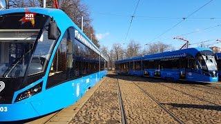 Трамваи нового поколения выехали на маршрут № 17 в Москве