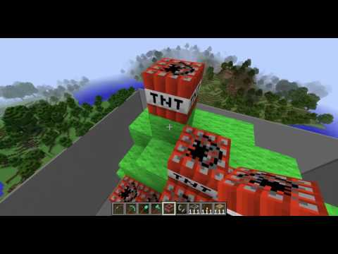 Minecraft Statue of Liberty Being Destroyed By Kaiden Ortega's TNT Tornado