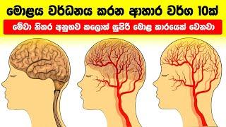 මොළය වර්ධනය කරන ආහාර වර්ග 10ක් - 10 Brain Boosting Foods