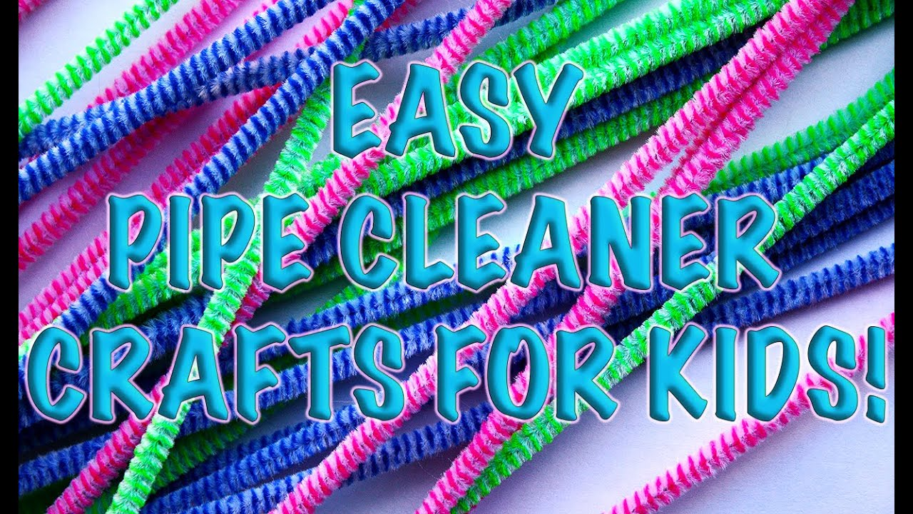 DIY: HOW To MAKE 4 UNIQUE HOMEMADE Creative Pipe Cleaner ...