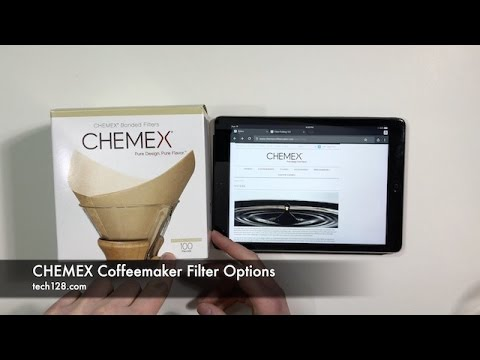 Chemex Coffeemaker Filter Options Youtube