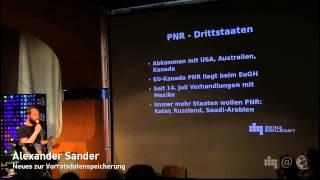 Alexander Sander: Neues zur Vorratsdatenspeicherung (NPA 039.1)