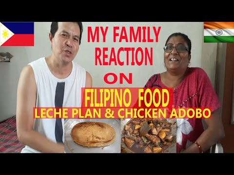 MY INDIAN WIFE FAMILY REACTION TO CHICKEN ADOBO & LECHE PLAN. FILIPINO GUY MARRIED TO INDIAN GIRL.