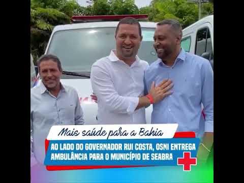 Vídeo: Deputado Osni Cardoso (PT) entrega ambulância para a cidade de Seabra, município onde ele só teve 30 votos!