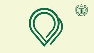 Pin Logo Design Tutorial with Circular Grid - Logo design illustrator - logo tutorial